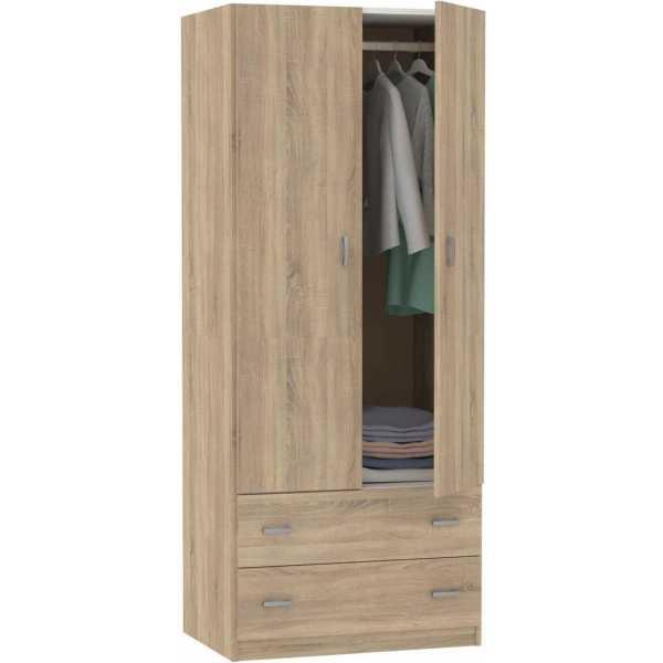 armario dos puertas dos cajones