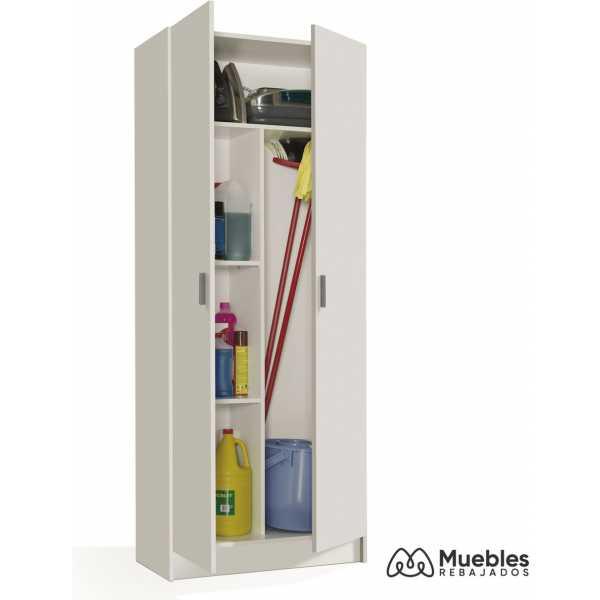 armario escobero puertas escobero blanco 007142o