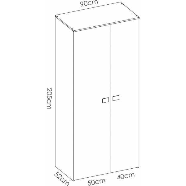 armario juvenil de 2 puertas mix 12
