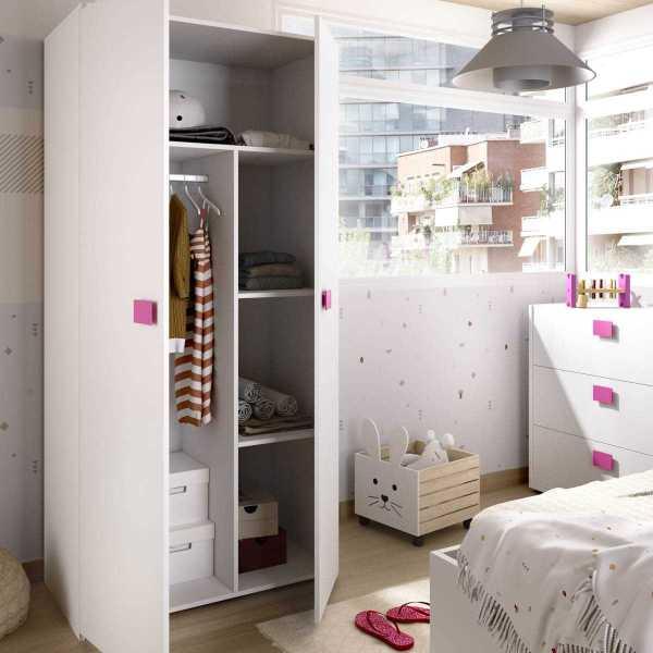 armario juvenil de 2 puertas mix 4