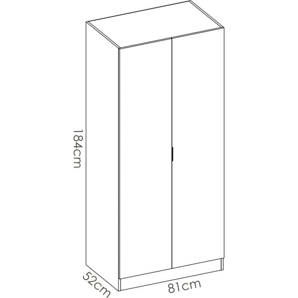 armario madera 2 puertas 80 cm 11