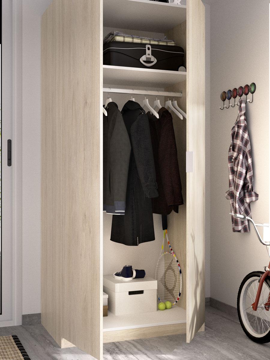 armario madera 2 puertas 80 cm 6