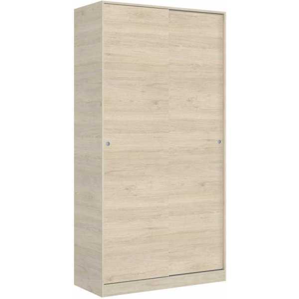armario madera 2 puertas corredera 100 cm