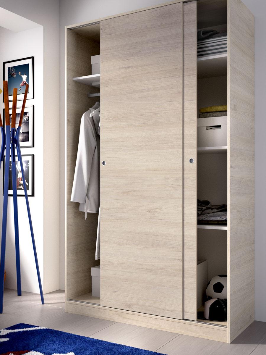 armario madera 2 puertas corredera 120 cm 5