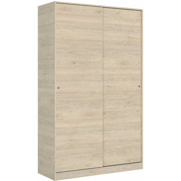 armario madera 2 puertas corredera 120 cm 6