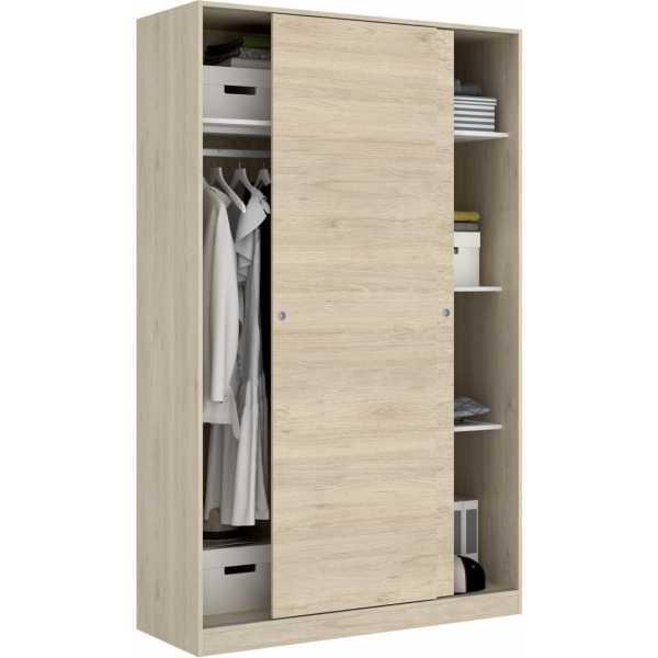 armario madera 2 puertas corredera 120 cm 8