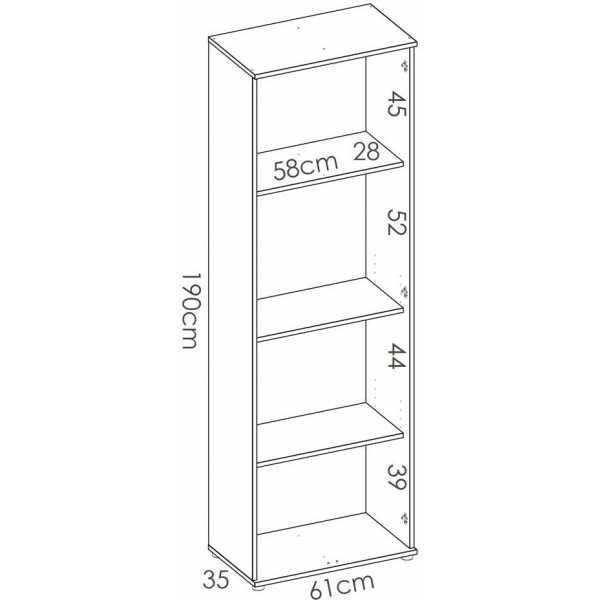 armario multiuso 2 puertas 3 estantes 1