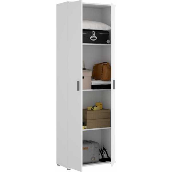 armario multiuso 2 puertas 3 estantes 5