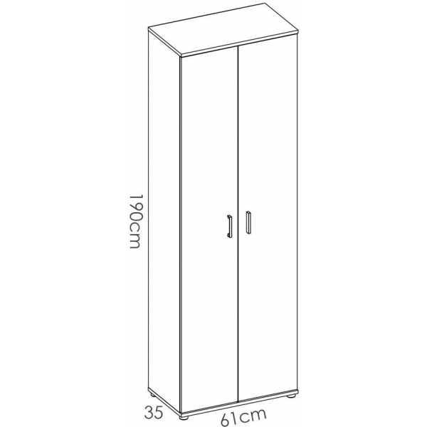 armario multiuso 2 puertas 3 estantes