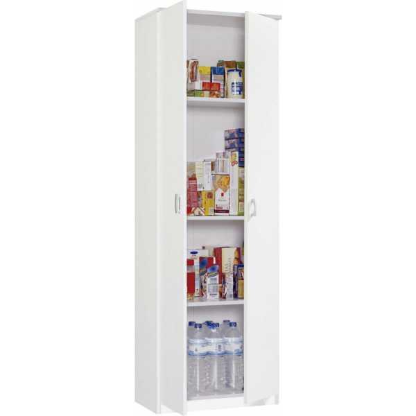 armario multiusos 2 puerta blanco