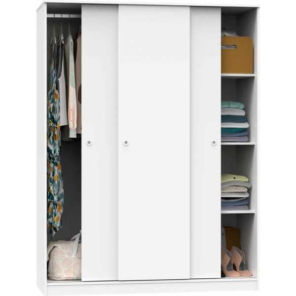 armario tres puertas correderas blanco