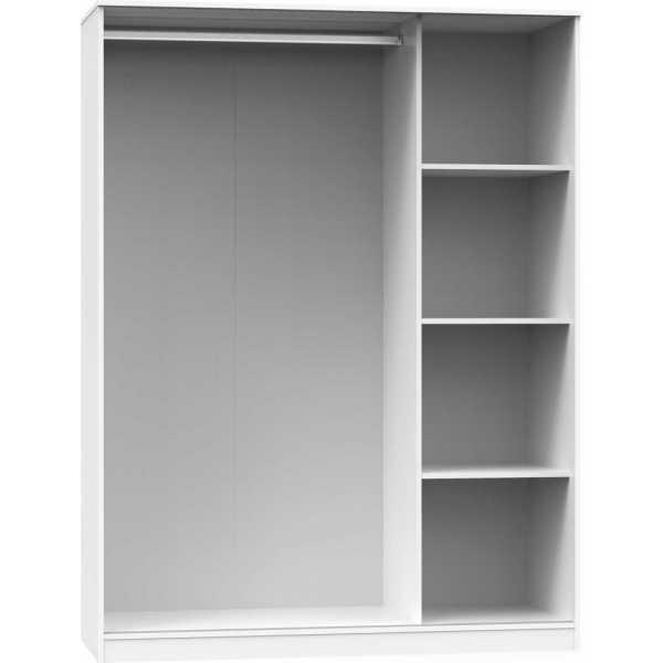 armario tres puertas correderas blanco abierto