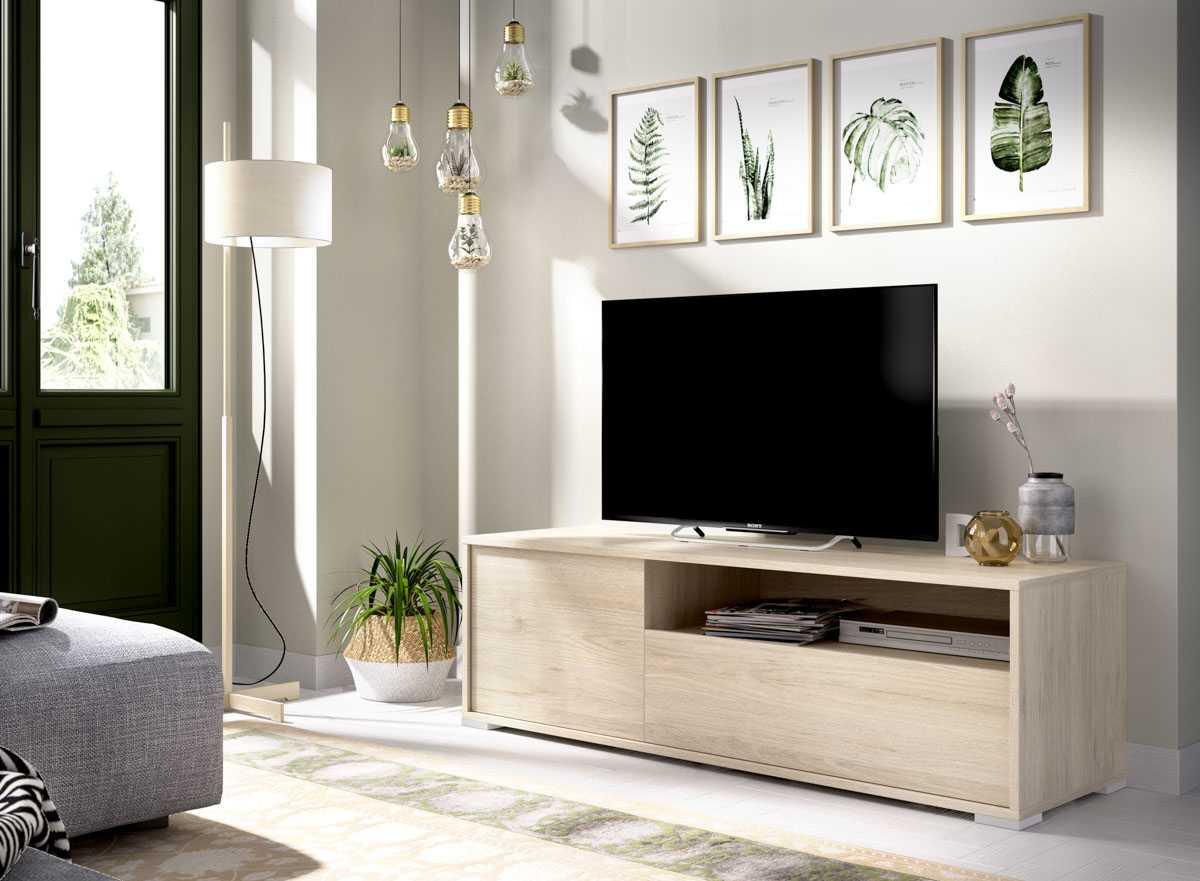 bajo tv 130 cm natural 2