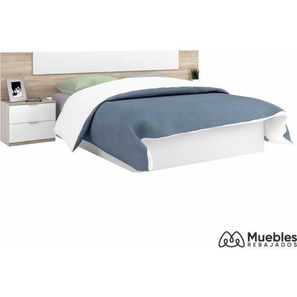 cabecero y mesitas de noche de madera para cama 150x190 016075f