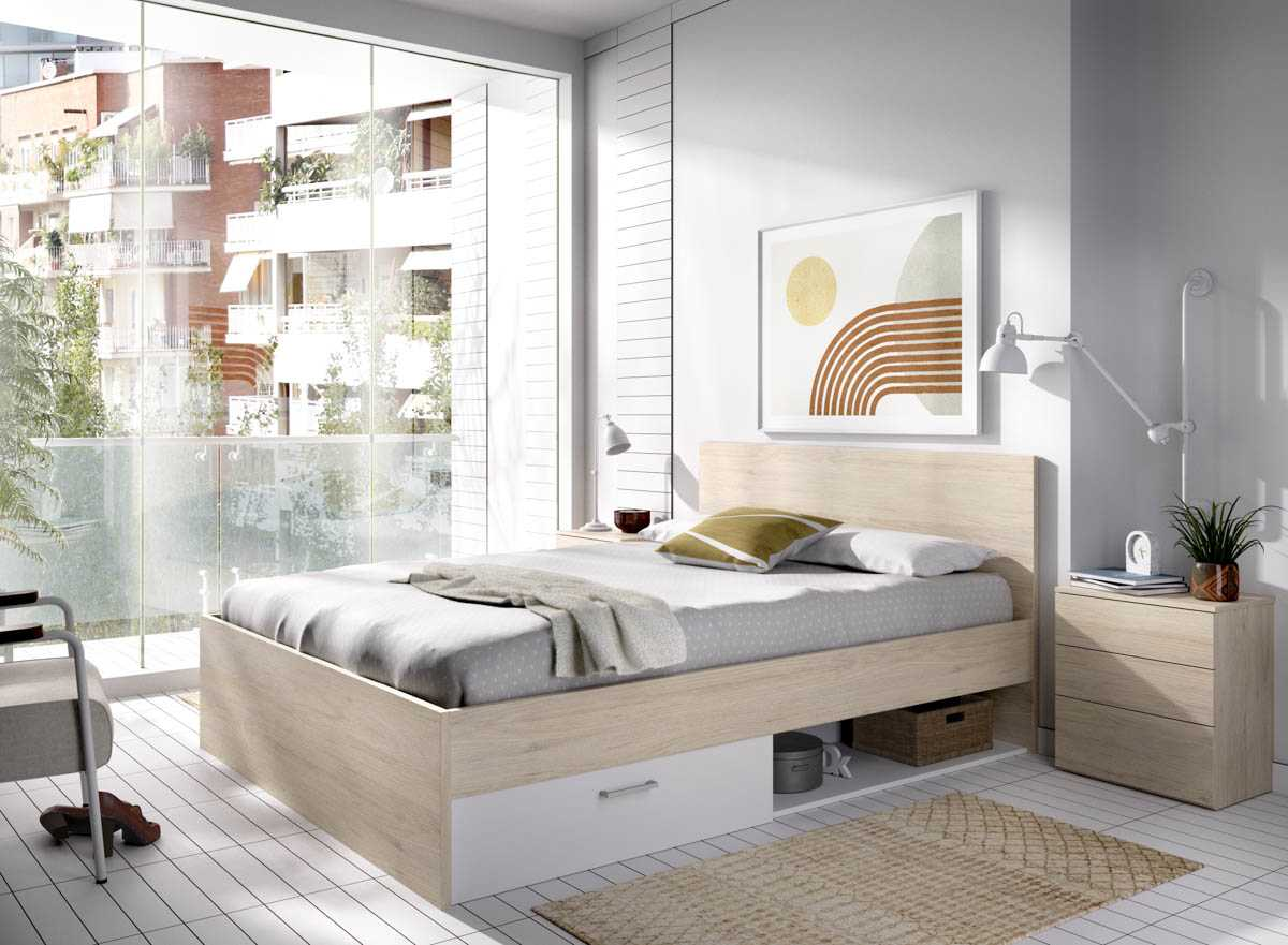 cama 150 roble 1
