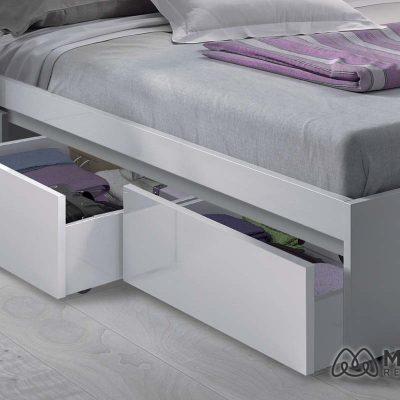cama 150 x 190 blanca 006088bo