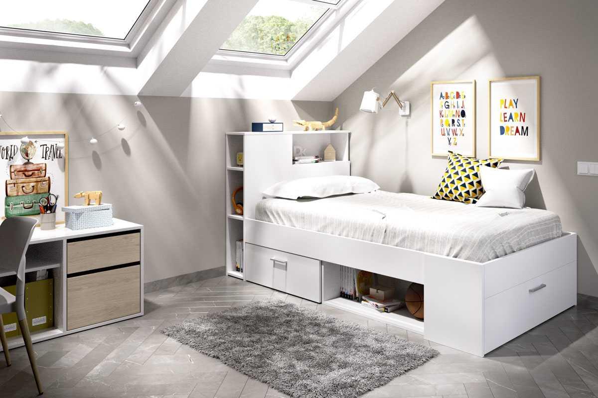 cama compacta 90x190 3