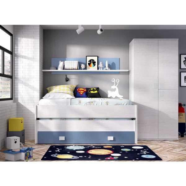 cama compacto 1 cajonesestanteria 1