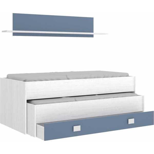 cama compacto 1 cajonesestanteria 2