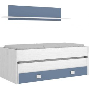 cama compacto 1 cajonesestanteria 3