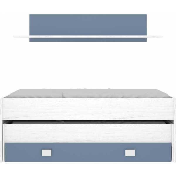 cama compacto 1 cajonesestanteria 4
