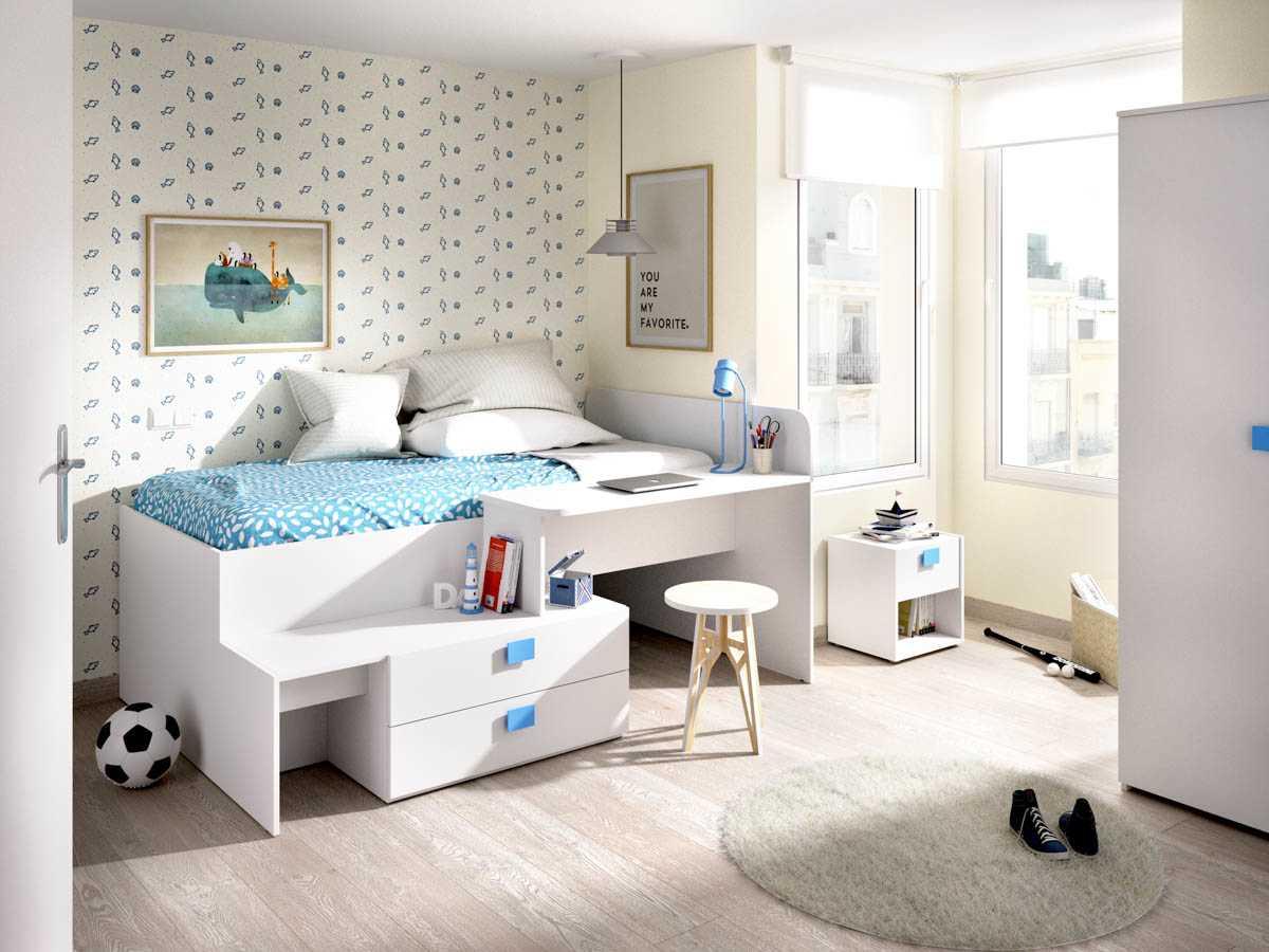 cama con cajones y escritorio 2