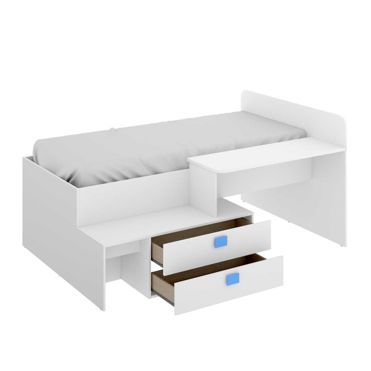 cama con cajones y escritorio 3
