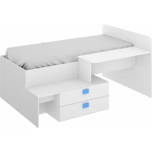 cama con cajones y escritorio 4