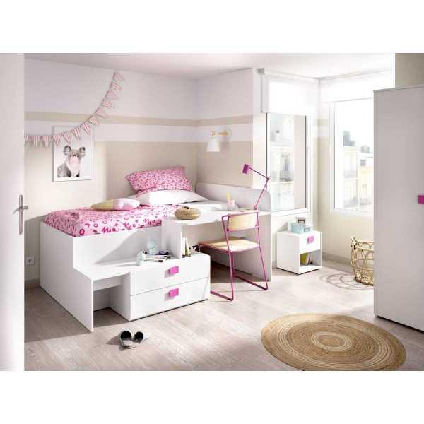 cama con cajones y escritorio 9
