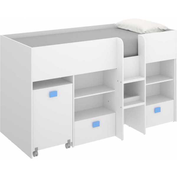 cama con escritorio y cajones de 90x200 cm 1