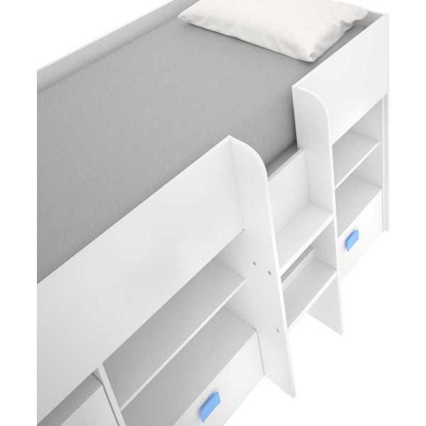 cama con escritorio y cajones de 90x200 cm 10