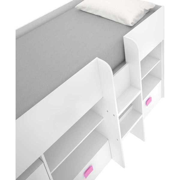 cama con escritorio y cajones de 90x200 cm 4