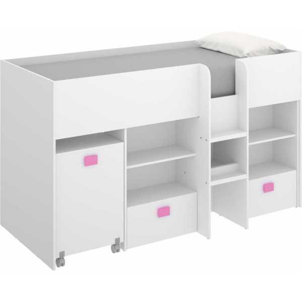 cama con escritorio y cajones de 90x200 cm 7