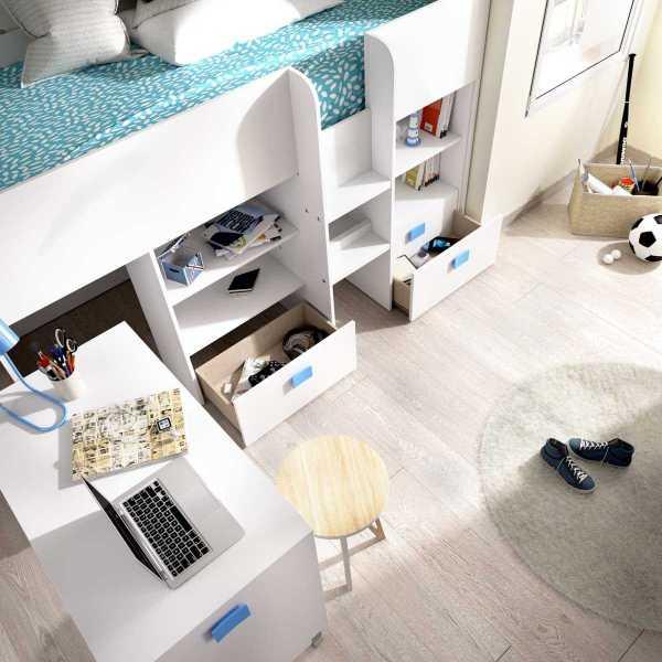 cama con escritorio y cajones de 90x200 cm 9