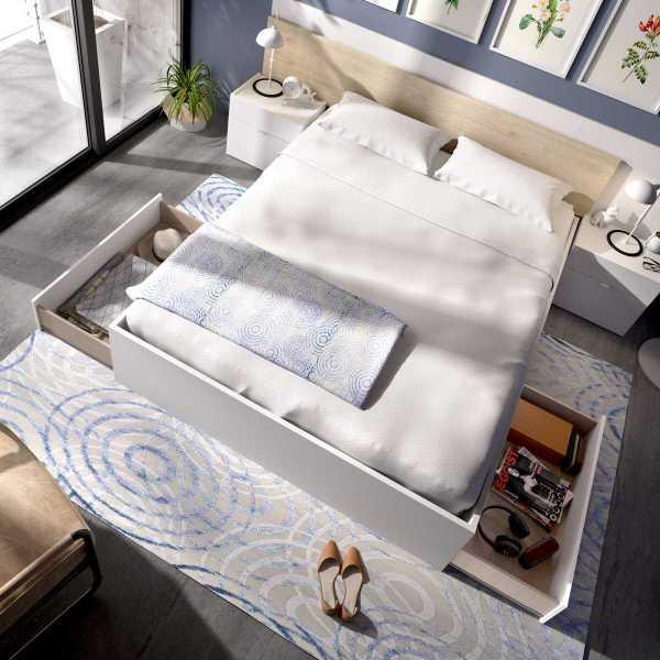 cama de 2 cajones y 2 huecos 2