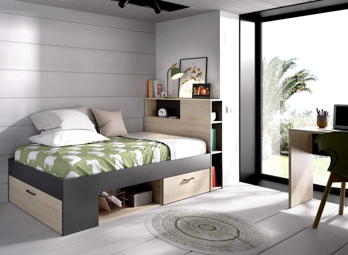 cama juvenil compacta 90x190 3