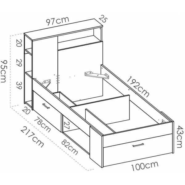 cama juvenil compacta 90x190 7
