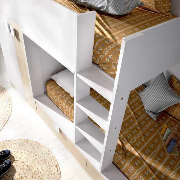 cama juvenil con cajones y escritorio 1