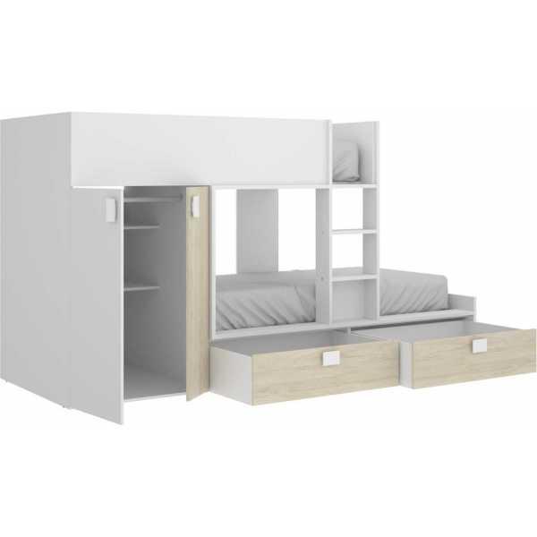 cama juvenil con cajones y escritorio 3