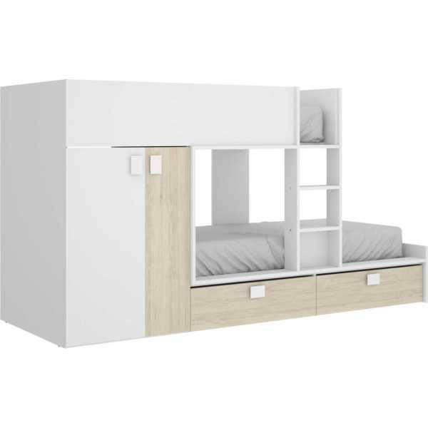 cama juvenil con cajones y escritorio 4