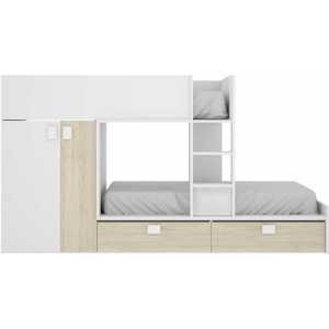 cama juvenil con cajones y escritorio 5