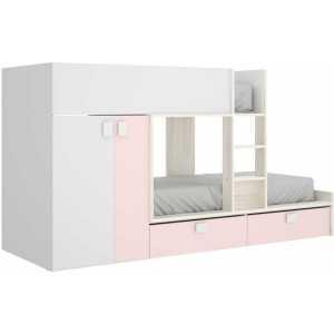 cama juvenil rosa con 2 camas 4