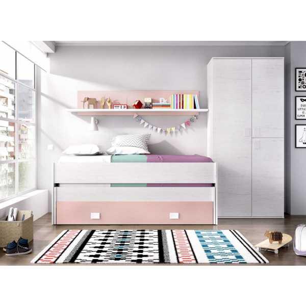 cama nido juvenil 1 cajon estanteria 1