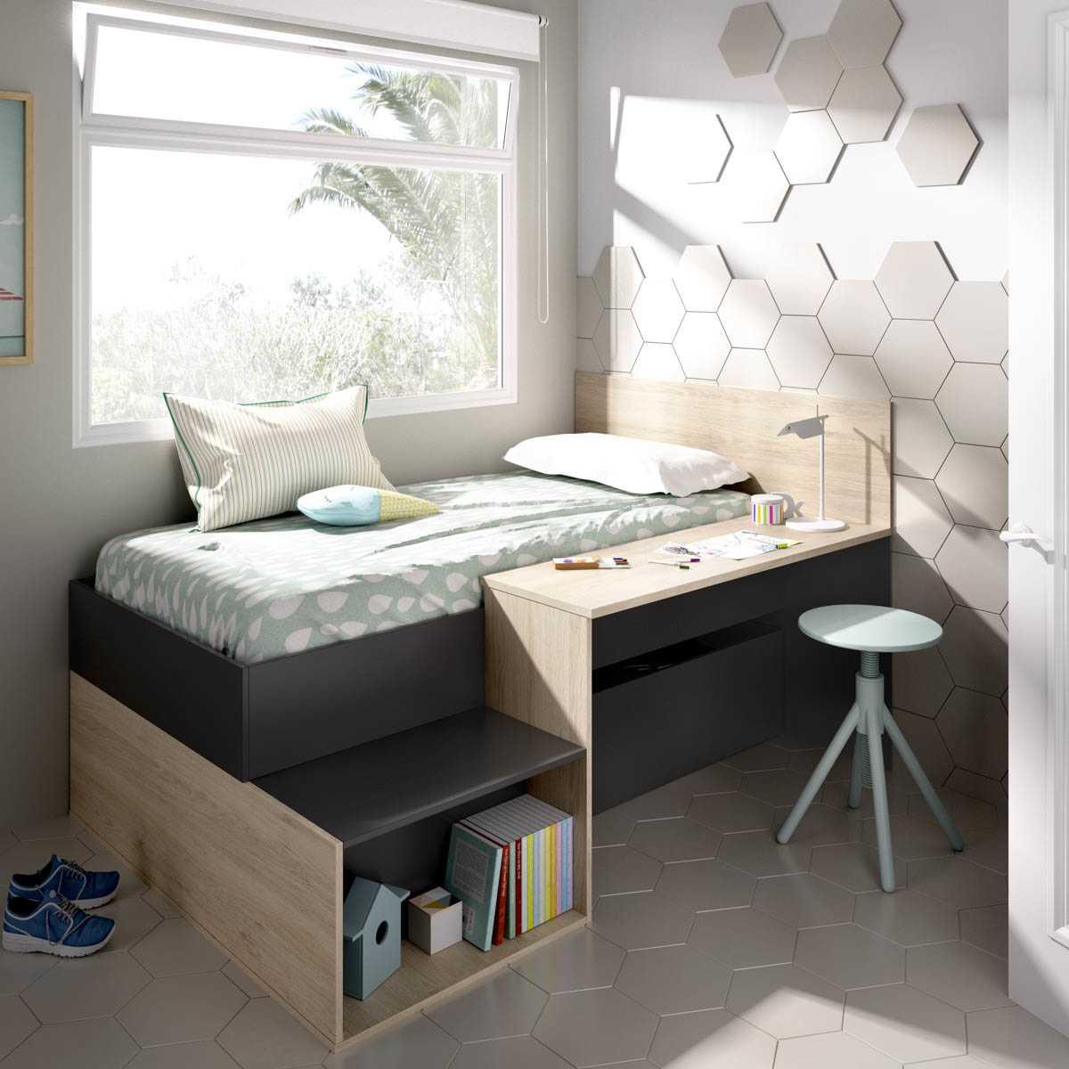 cama nordica con escritorio 1