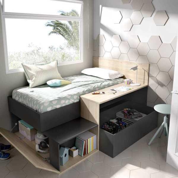 cama nordica con escritorio