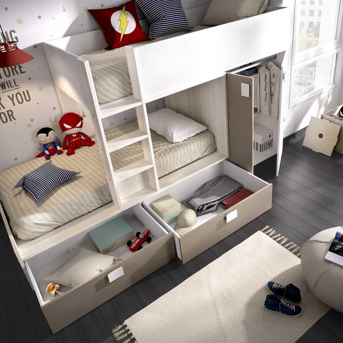 cama tren 2 camas matt