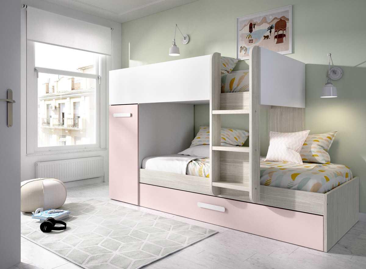cama tren 3 camas tom rosa 1