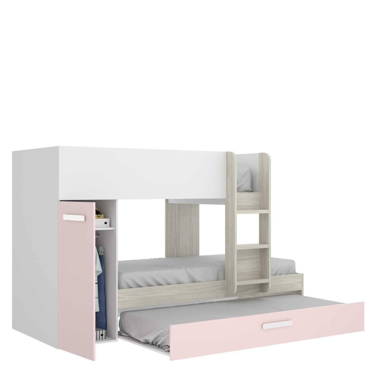 cama tren 3 camas tom rosa 2