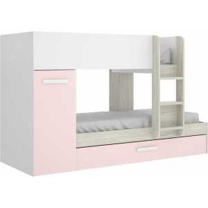 cama tren 3 camas tom rosa 3