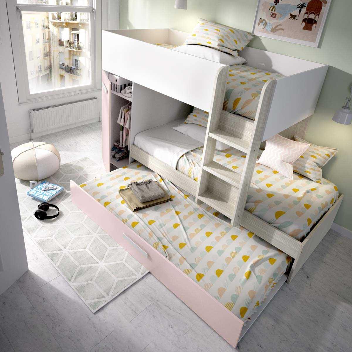 cama tren 3 camas tom rosa 5